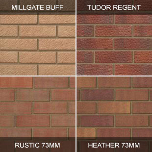 Ibstock: Tradesman Millgate buff, Tudor regent, Rustic 73mm and Heather 73mm now delivery free