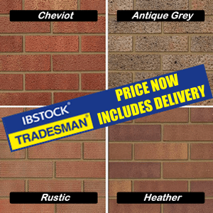 Ibstock: Cheviot, Antique grey, Rustic and Heather bricks, now delivery free